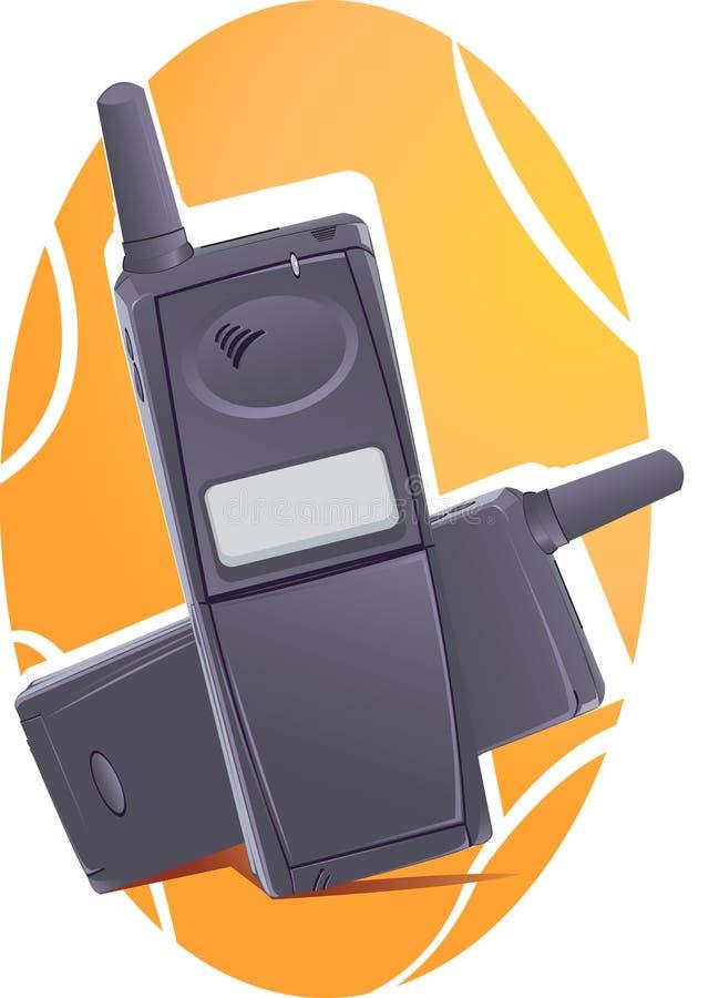 Due telefoni senza fili neri royalty illustrazione gratis