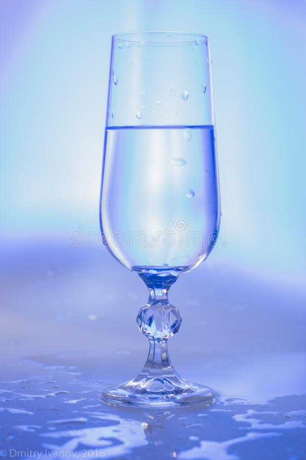 Glass in cold colors 2 royalty free stock image
