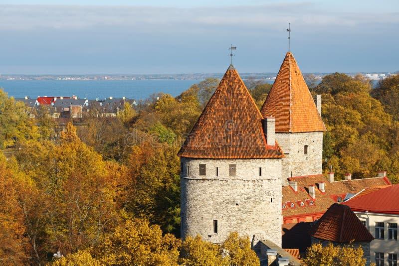 Due torrette. Tallinn, Estonia fotografie stock libere da diritti
