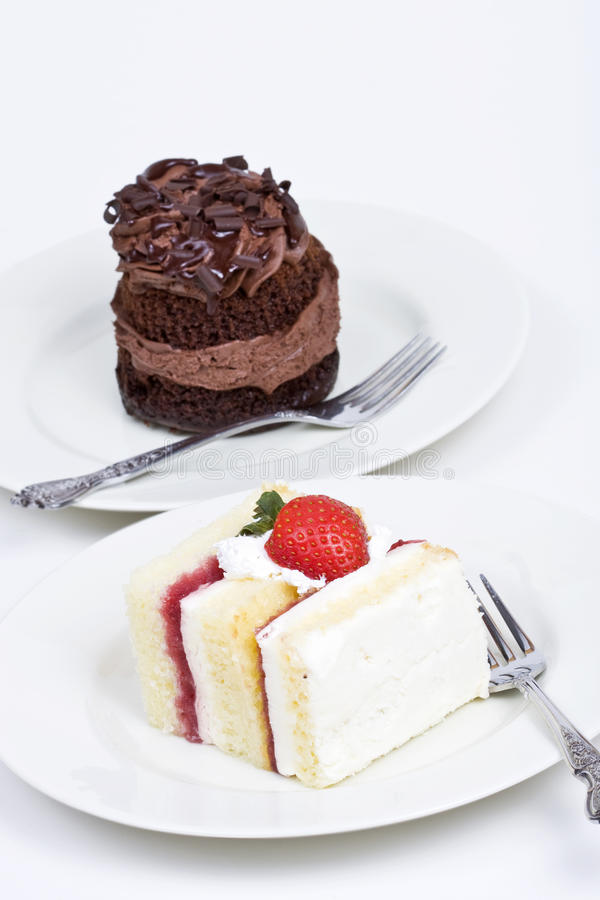 Due torte del dessert immagine stock