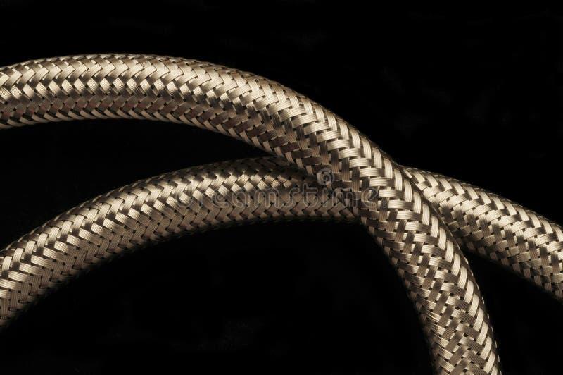 Due tubi stridenti flessibili dell'acciaio inossidabile immagine stock libera da diritti