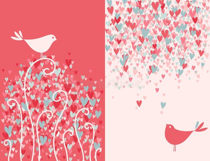 Due uccelli graziosi di amore. royalty illustrazione gratis