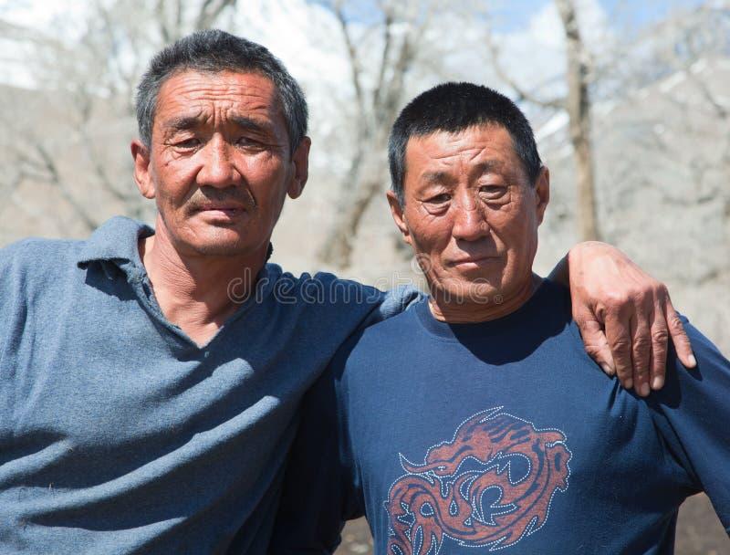 Due uomini del Kazakh fotografia stock libera da diritti
