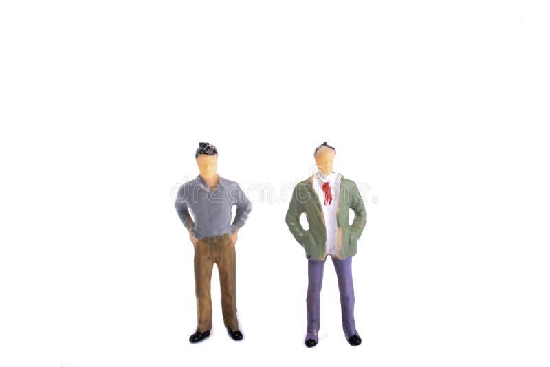 Due uomini di modello della figurina fotografie stock