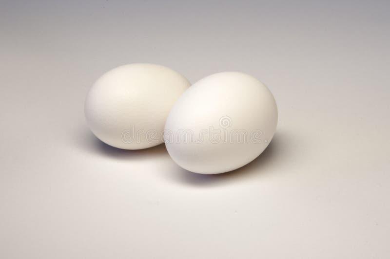 Due uova bianche immagini stock libere da diritti