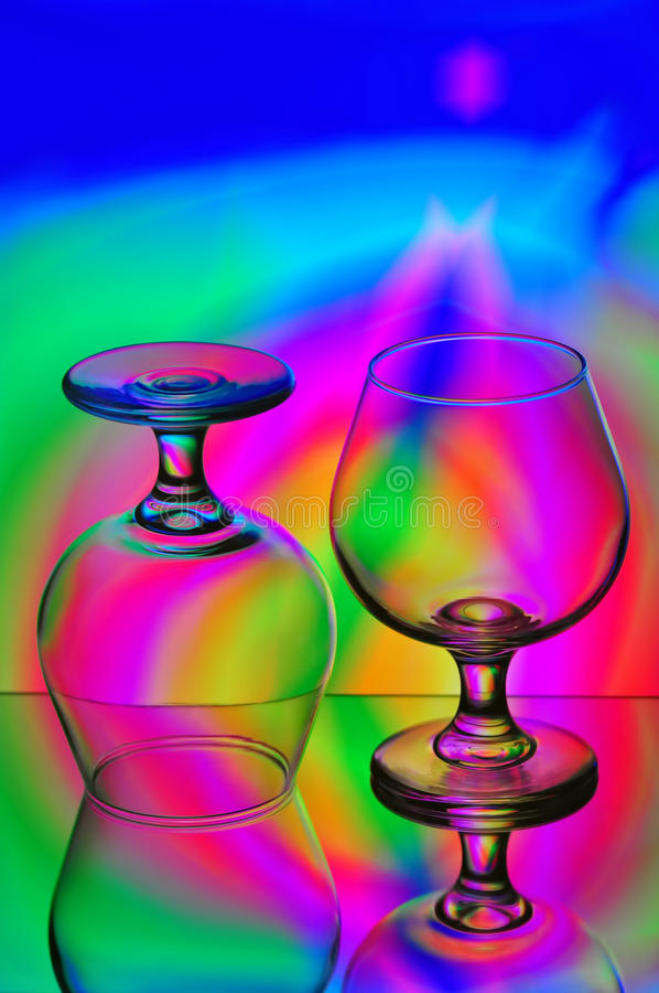Due vetri del cognac fotografia stock