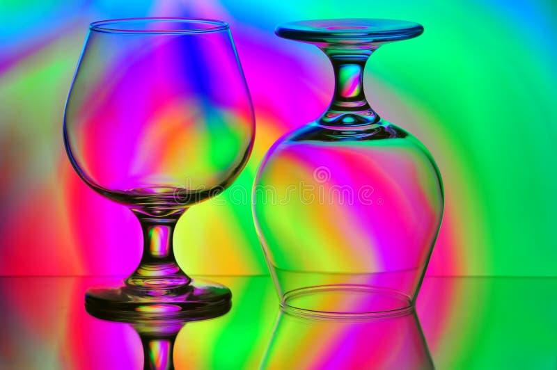 Due vetri del cognac immagini stock