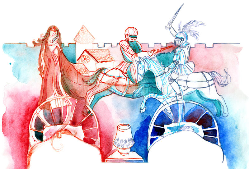 duel illustration de vecteur