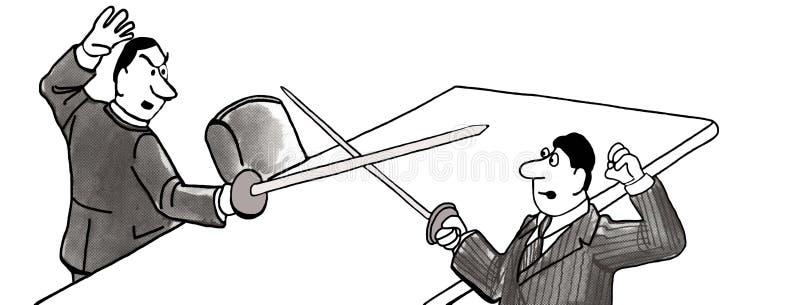duel illustration libre de droits