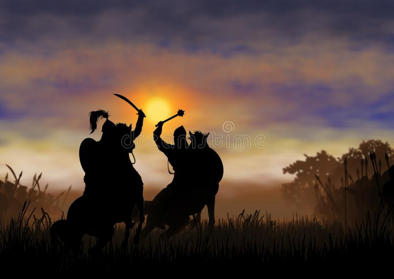 Duel before the battle royalty free stock images