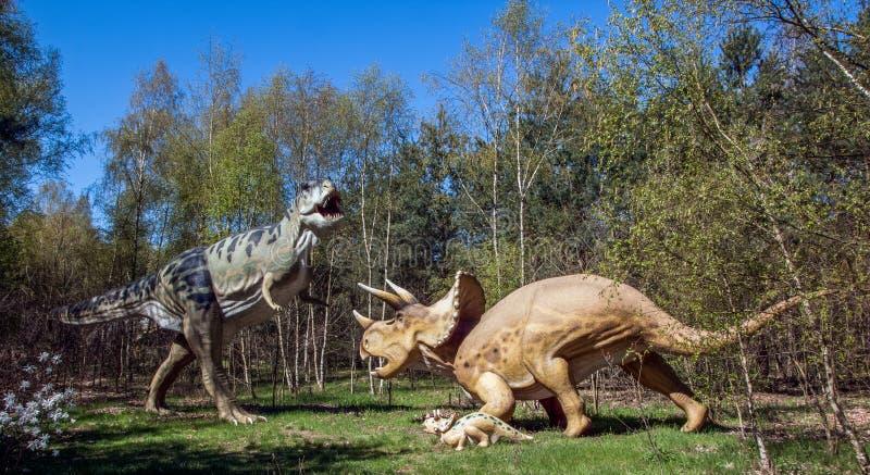 Duel de dinosaure photo stock