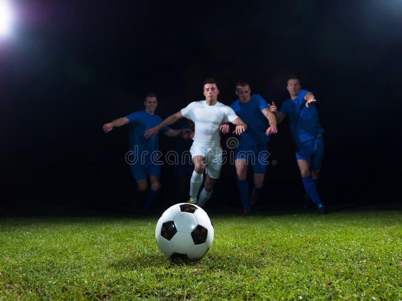 Duel de footballeurs photographie stock