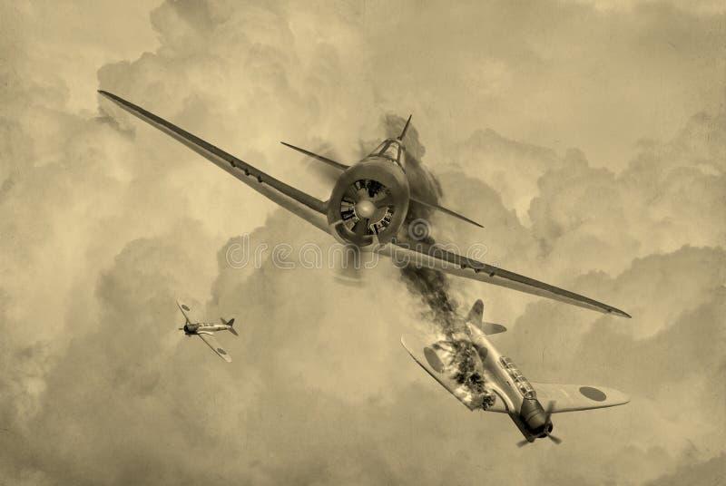 Duel de la guerre mondiale 2 illustration stock