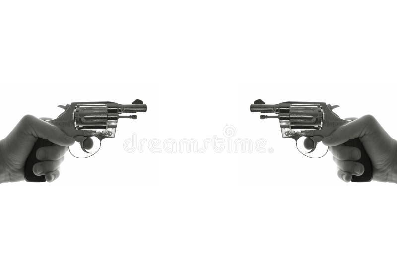 Duell mit Gewehren stockbild