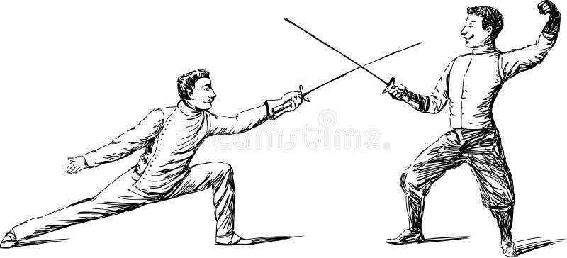 Duello royalty illustrazione gratis
