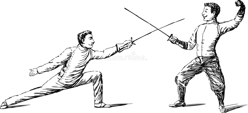 Duelo ilustração royalty free