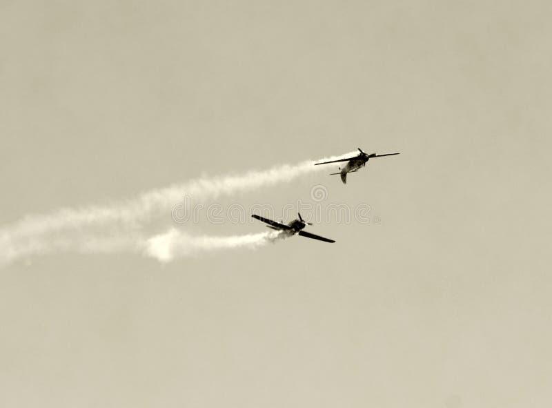Duelo aéreo imagenes de archivo