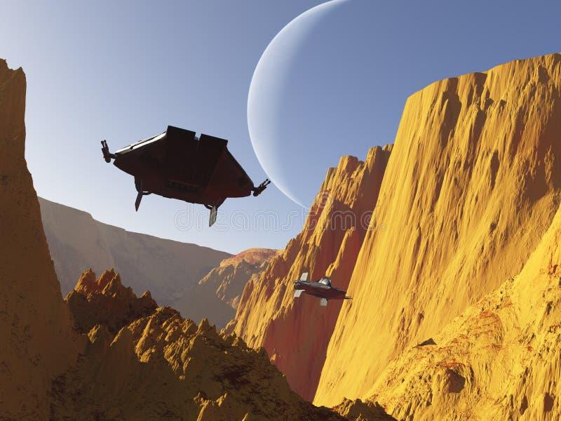 Duelo da ficção científica (2) ilustração royalty free