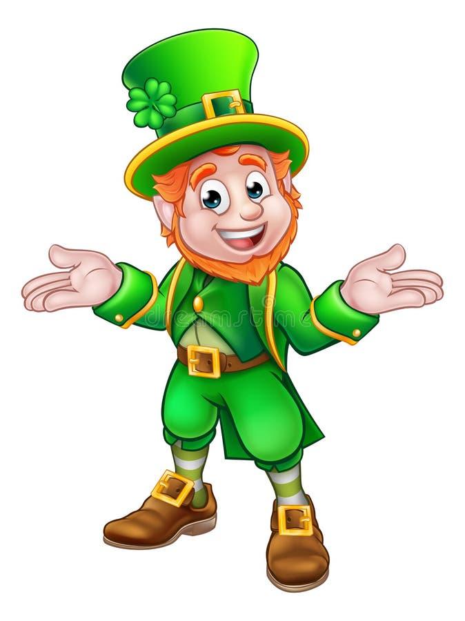 Duende de la historieta del día del St Patricks stock de ilustración