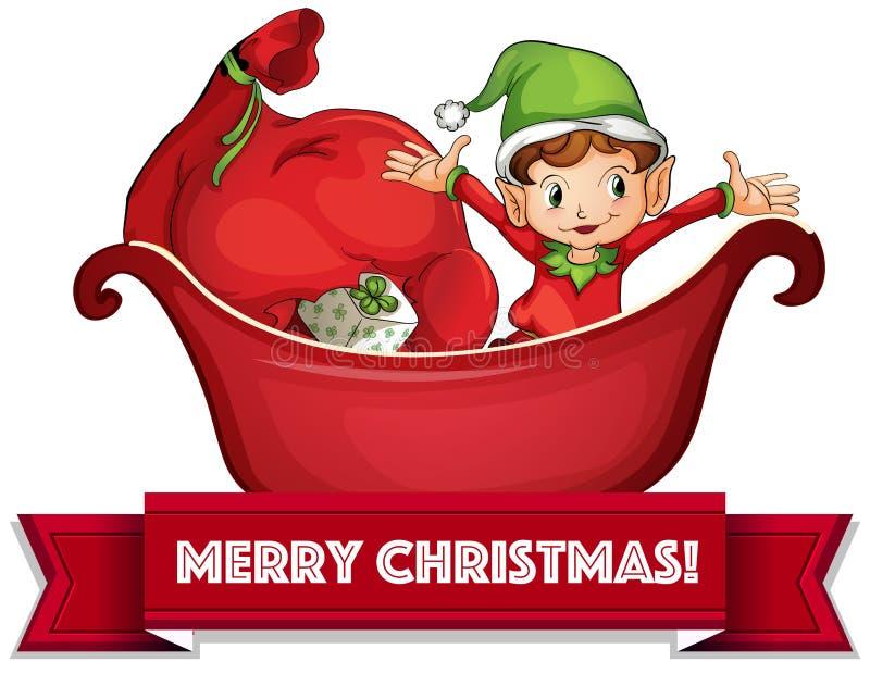 Duende de la Navidad stock de ilustración