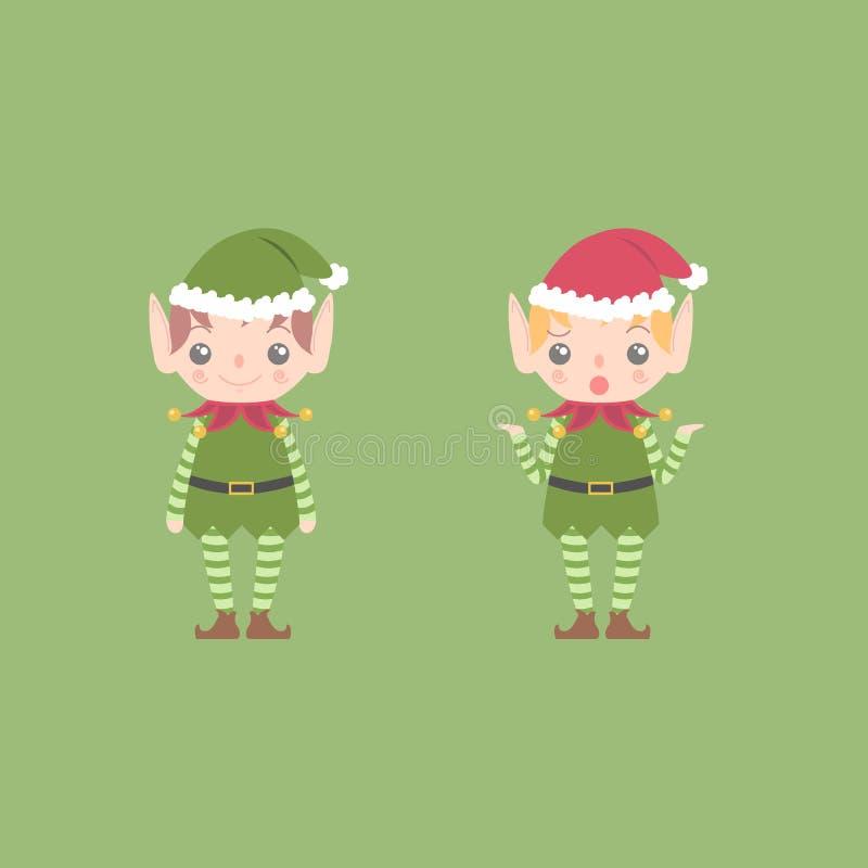 Duende de la Navidad ilustración del vector
