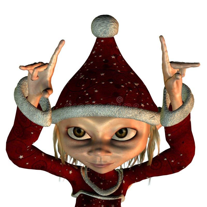 Duende do Natal ilustração stock