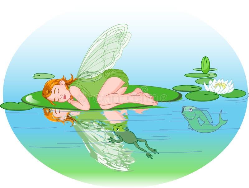Duende el dormir stock de ilustración