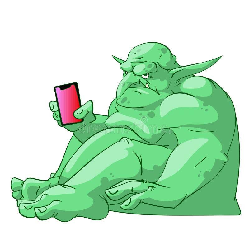 Duende gordo grande de Internet libre illustration