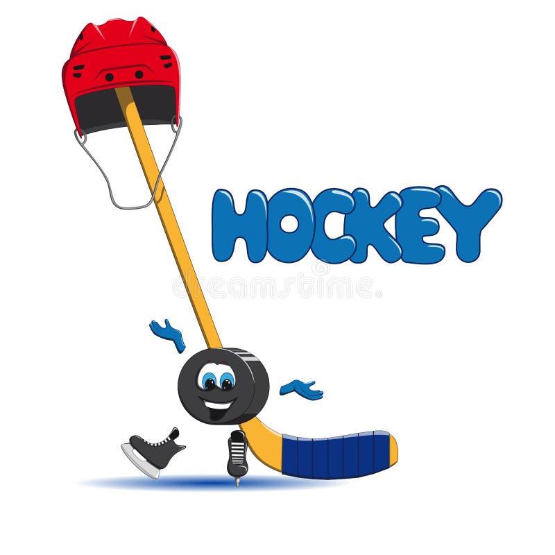 Duende malicioso de hockey en la sonrisa del hielo fotografía de archivo