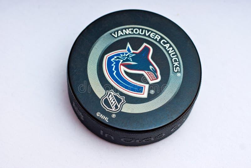 Duende malicioso de los Vancouver Canucks imágenes de archivo libres de regalías