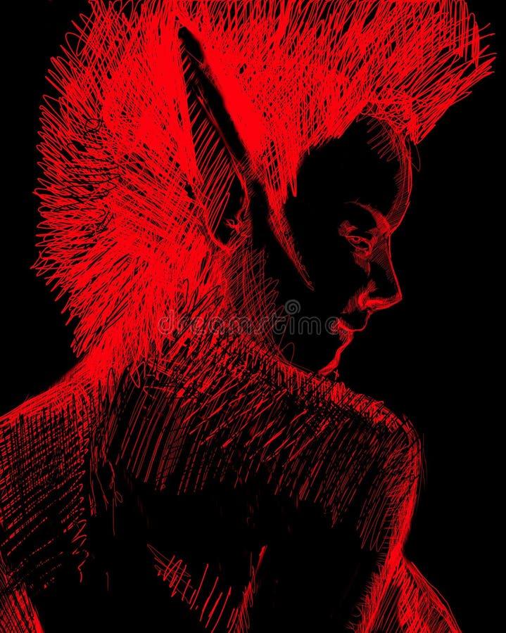 Duende oscuro ilustración del vector