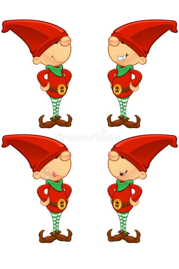 Duende rojo - manos en caderas stock de ilustración