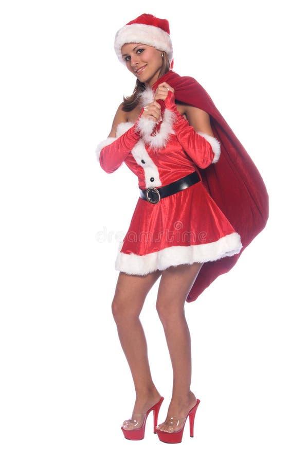 Duende 'sexy' de Santa fotografia de stock royalty free