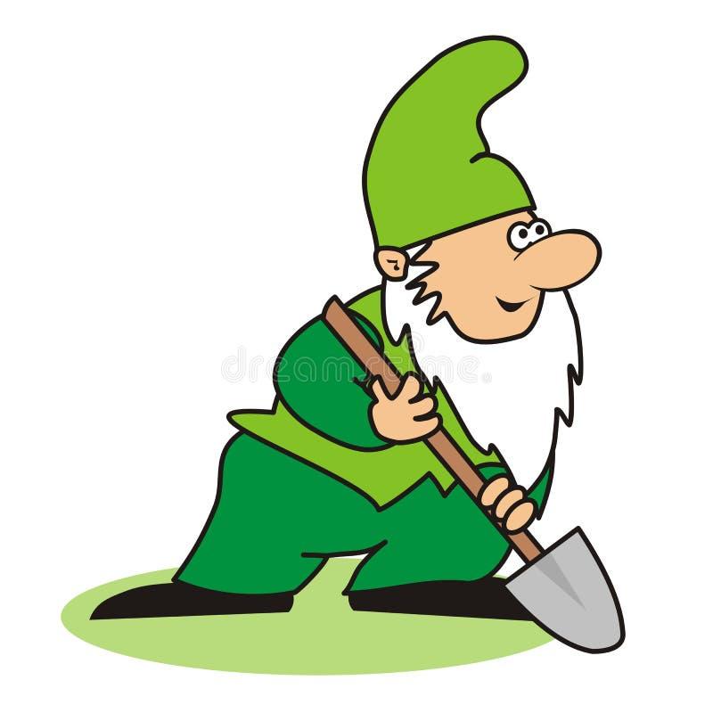 Duende y espada ilustración del vector