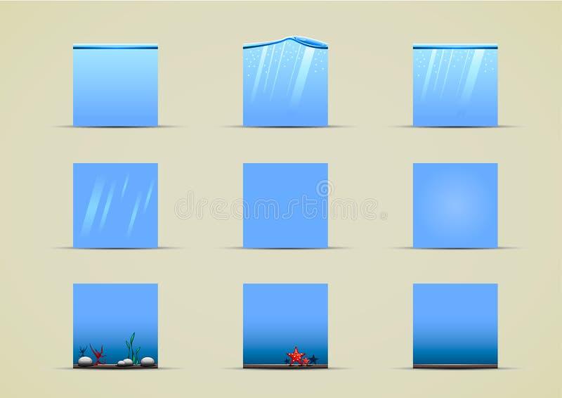 Duendes de água para criar o jogo de vídeo ilustração royalty free