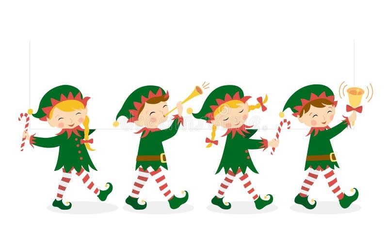 Duendes de la Navidad stock de ilustración