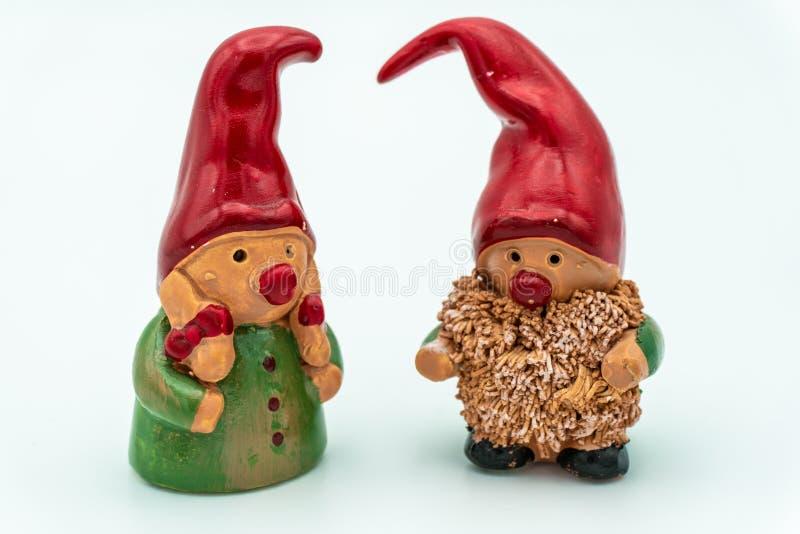 Duendes de la Navidad o gnomos de la Navidad foto de archivo