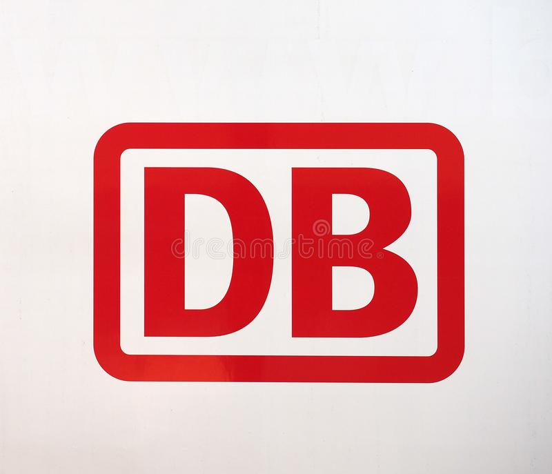 DUeREN - AUG 2019: Deutsche Bahn sign royalty free stock photography