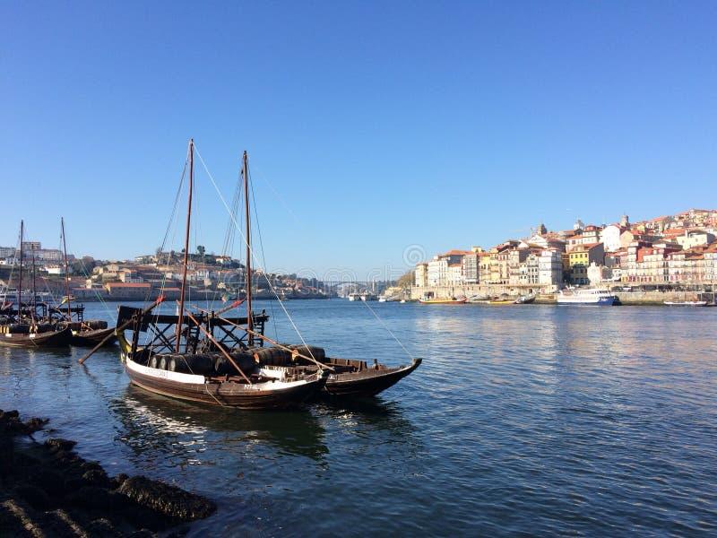 Duero-Flussboote stockbild