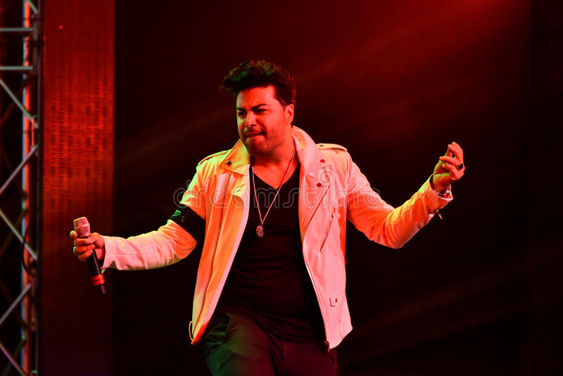 Duet Kamran & Hooman performing on stage during the Big Apple Music Awards 2016 Concert. NEW YORK, NY - NOVEMBER 27: Duet Kamran & Hooman performing on stage stock photography