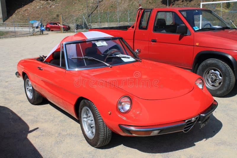 Dueto de Alfa Romeo do carro fotos de stock