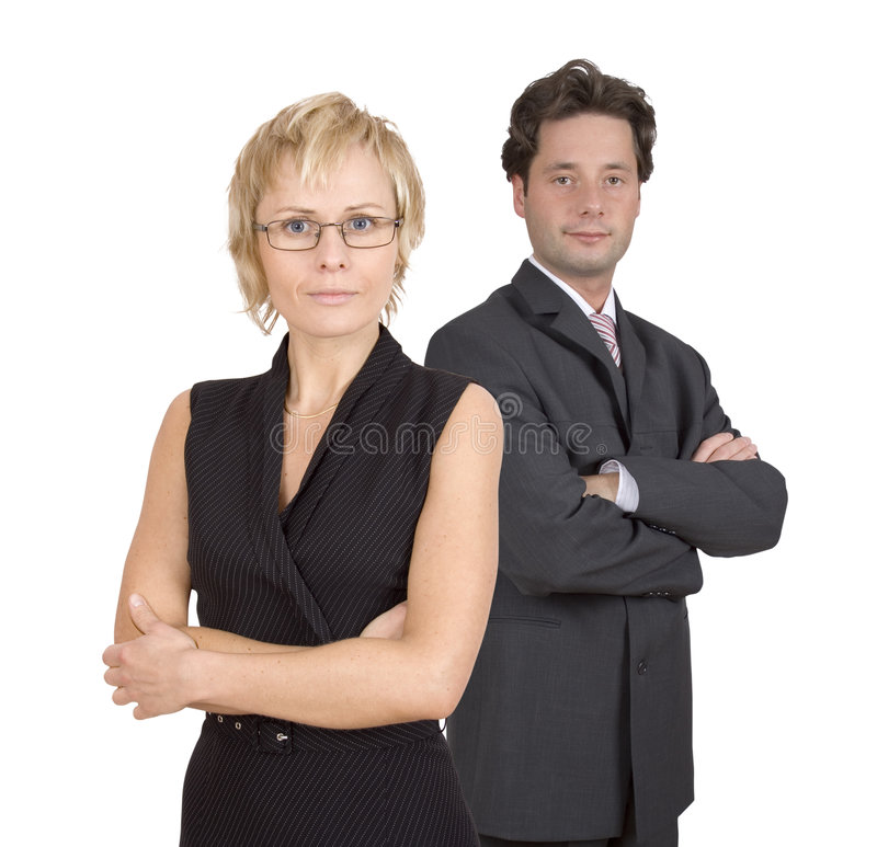 Duetto di affari immagini stock