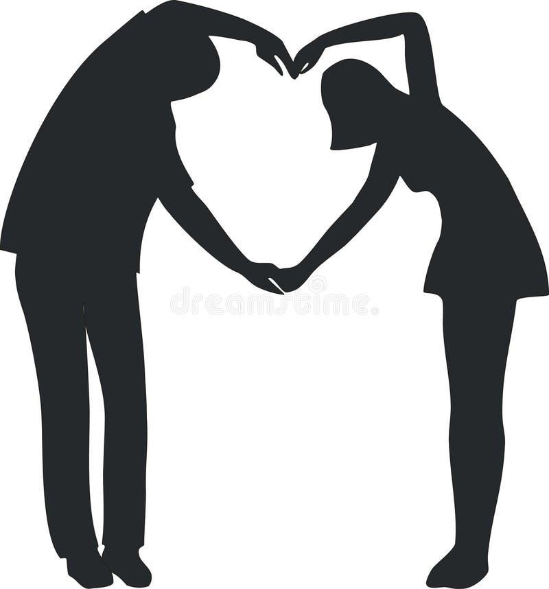 Duetto di amore royalty illustrazione gratis