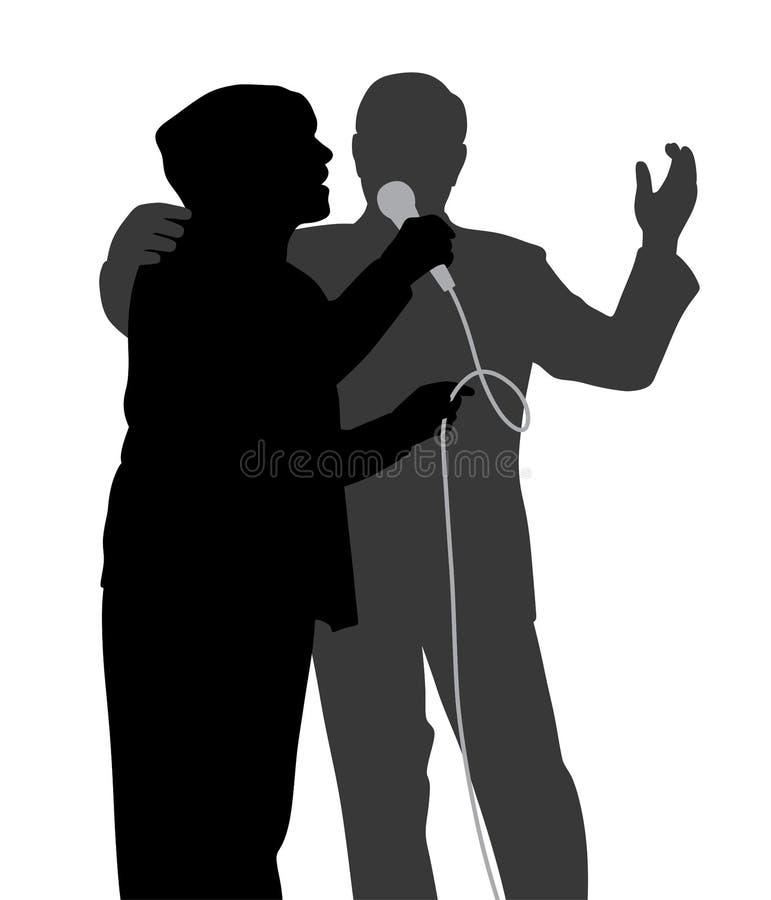 Duetto senior di canto illustrazione di stock