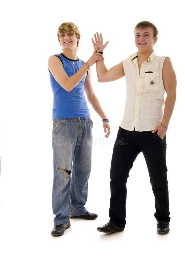 duetu mody macho potomstwa obrazy stock