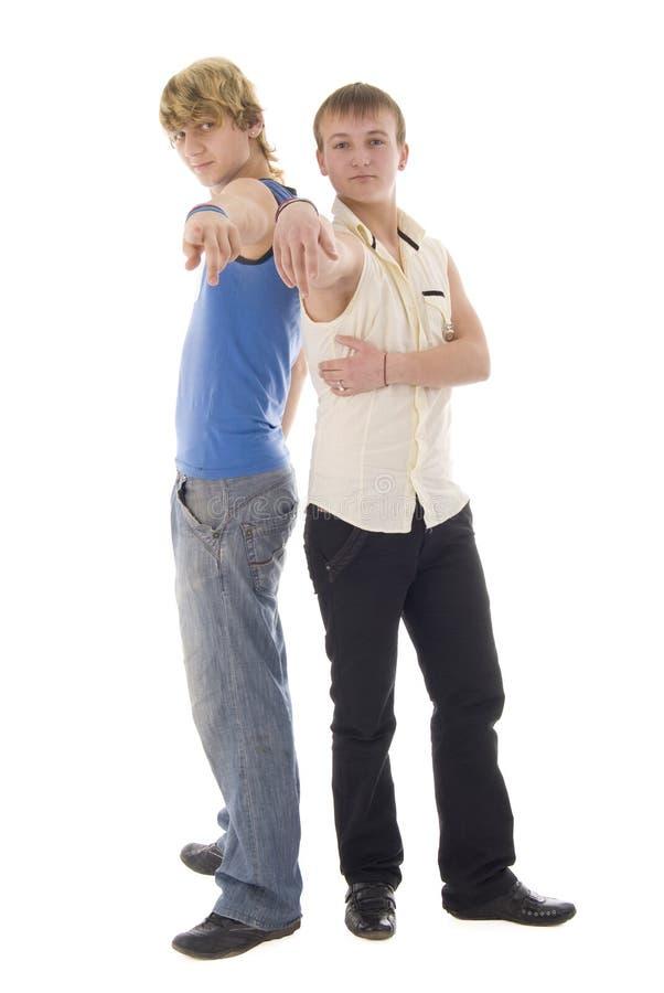 duetu mody macho punktu potomstwa zdjęcia stock