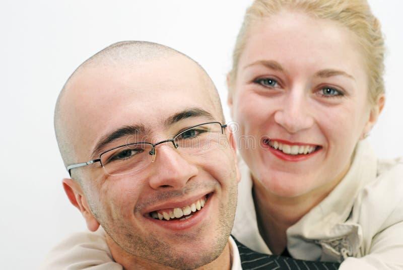 duetu uśmiech zdjęcie royalty free