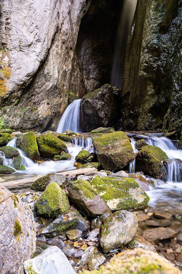 Duf Waterfall near village Rostushe in North Macedonia royalty free stock photos