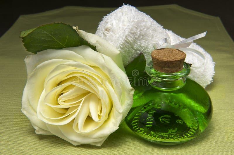 Duftende Produkte für Karosseriensorgfalt stockbilder