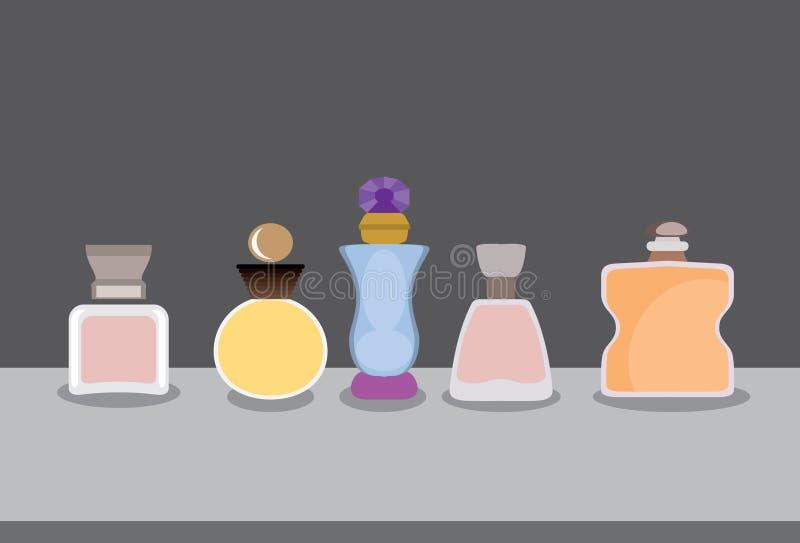 Duftstoff-Flaschen stock abbildung